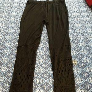 Thin revealing black leggings